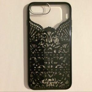kate spade black filigree cover iPhone 6+, 7+, 8+